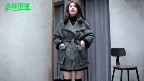 简单的呢料大衣,时尚大气的效果,你会怎么搭配呢?