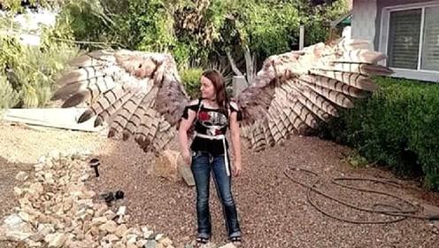"""外国女子研制,世界首款""""人造翅膀""""真的能展翅飞翔吗?"""