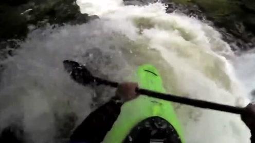 挑战高崖跳水,这峡谷好像太窄了点