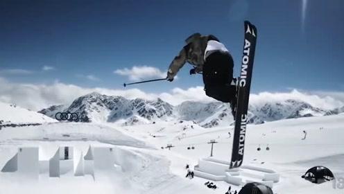 极限雪山滑雪,这也太挑战耐力了