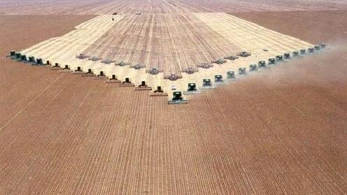 美国为什么粮食出口全球第一?看看他们的机械化水平,太震撼了