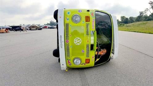 在路上横着跑的汽车,放在国内根本行不通,这也太霸气了