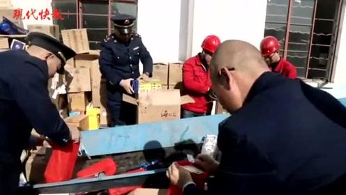 违法食品别想害人!江苏公开销毁53.9吨违法食品,货值超650万元