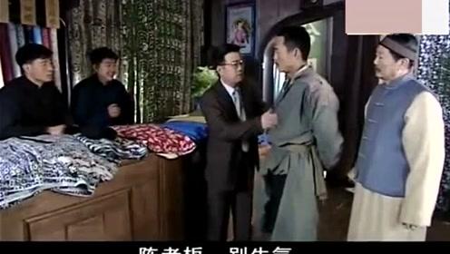 掌柜看不起乞丐,把布降到一块一匹羞辱他,乞丐要8千匹