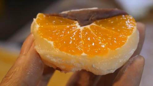 橘子夹心的年糕你吃过吗?水果清香加香甜糯米,网友:看着像花瓣