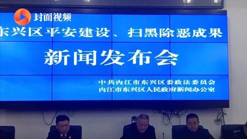 东兴区召开平安建设、扫黑除恶成果发布会