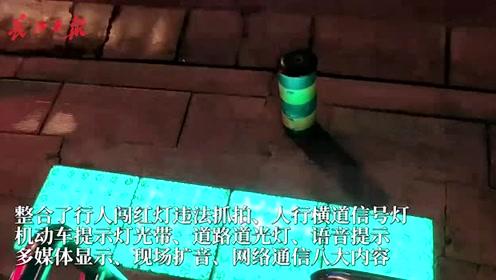 你见过会发光的斑马线吗?武汉首条智能发光斑马线亮相光谷