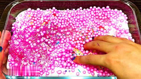 白色起泡胶混合泡沫泥,创意史莱姆教程
