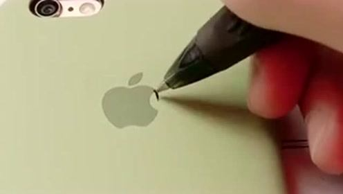 """强迫症忍这个""""苹果""""很久了,画满后看起来舒服多了,满满的套路!"""