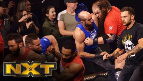 【NXT535期】无敌年代庆祝胜利 红蓝男孩踢馆 基思里炸弹摔麦金泰尔