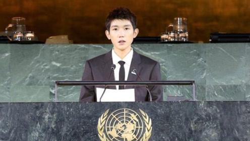 王源出席联合国会议 与贝克汉姆为儿童发声