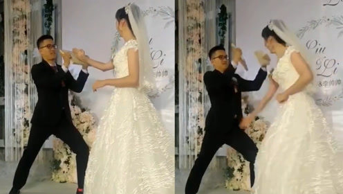 新娘徒手劈碎木板,网友:婚后家庭地位一目了然