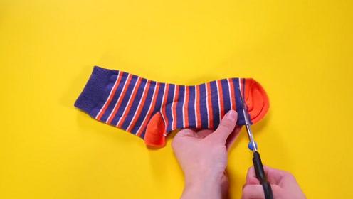 袜子只用来穿太可惜,简单动动手,孩子见了抢着要