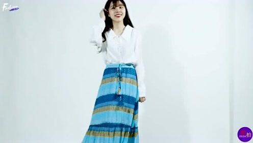 小个子女生的穿衣典范,白衬衫搭配半身裙清爽利落,时尚又显高