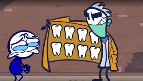 男孩碰到黑心牙医,卖给小男孩假药膏,结局太搞笑了