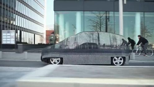 """专为汽车打造的""""隐身衣"""",可以融入周围环境,太厉害了"""