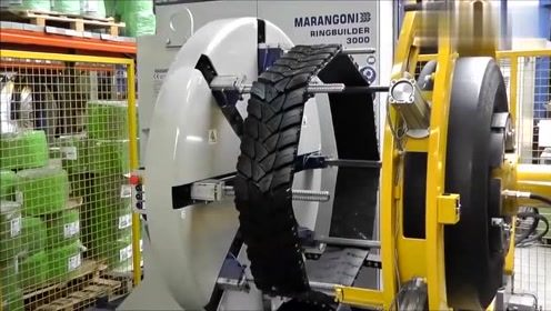 实拍德国轮胎翻新厂,这技术真不错,旧轮胎立马变新的!