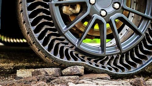 """""""永不爆胎""""的变形轮胎,能节省40%油钱,装上它比越野车都牛"""