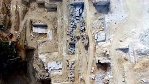 航拍华南最大的大理石开采基地,一座山要能挖几十年,太壮观了