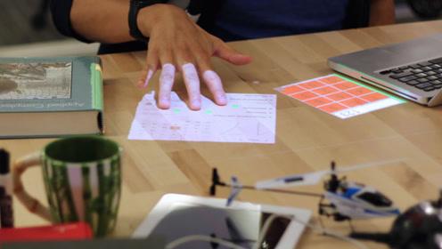 这黑科技投影灯,能让桌面秒变触摸屏,像用手机一样操作APP