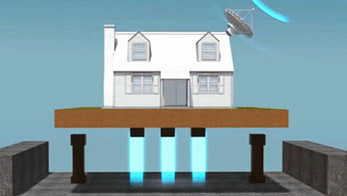老外发明的磁悬浮房子,发生10级地震都不怕,网友:异想天开!