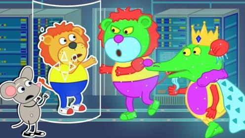 小老虎遇见神奇实验室,造出一个克隆小老虎,老鼠看到惊呆了!