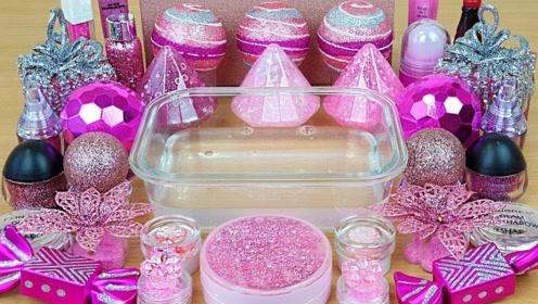 用粉色化妆品、闪粉亮片等给透泰染色,无硼砂,减压又好玩