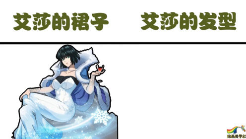 吹雪穿艾莎同款裙子vs扎艾莎同款发型,做自己就好,何必模仿别人