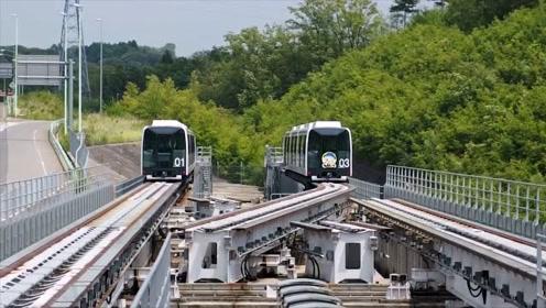 实拍日本列车独特的变轨系统,看完我服了