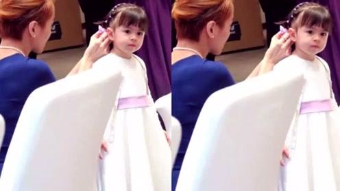 梁咏琪晒女儿今昔对比照,感慨三年前后的小花女,长大了,模样乖巧