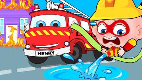 男孩立志成为消防员,变成巨人熄灭了着火的房子,受到了好评!