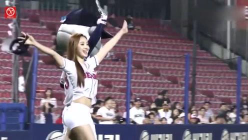 看球还是看美女!韩国棒球场历届开球嘉宾中身材最好的小姐姐