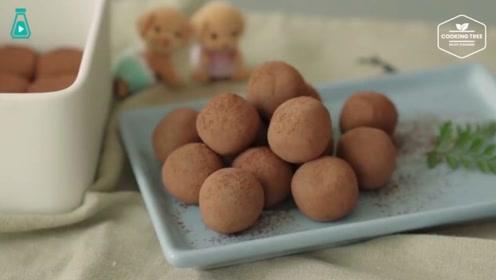 用炼乳和可可粉自制松露巧克力,制作过程又是双重的享受啊