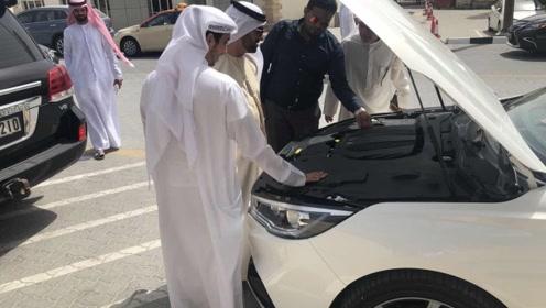 迪拜土豪要买车,看到红旗L5时排队围观,真给国产车争光了!