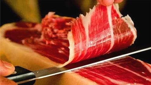 西班牙切火腿的大师,时薪就要3万,从业30年刀工堪称一绝!