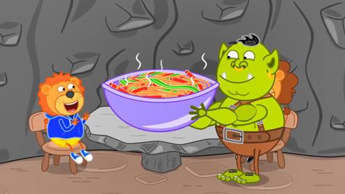 宝宝不爱吃面条,多亏爸爸有办法,蔬菜汁和面颜色鲜艳味道香甜!