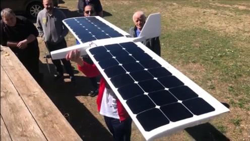 厉害了!牛人自制强大的太阳能RC飞机