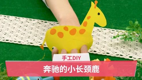 手工DIY:奔驰的小长颈鹿