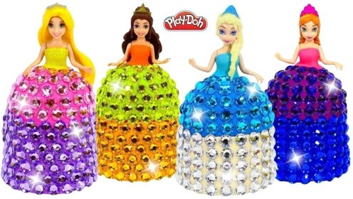 给迪士尼公主做闪亮的连衣裙,简单漂亮,创意手工DIY