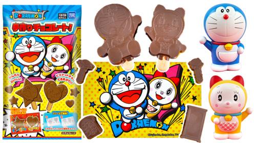 日本食玩哆啦A梦巧克力棒美食手工DIY