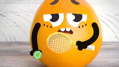 趣味涂鸦:涂鸦的美好生活,小橙子打球累了!