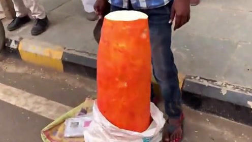 印度狐狸瓜,薄薄一片就要2块钱,网友:口水直流!
