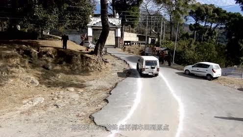 印度考驾照,过S弯不说,还要倒着来一遍,看完还说中国驾照难考吗