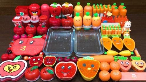 红色苹果与橘色胡萝卜系列混泥,无硼砂,你喜欢哪一个