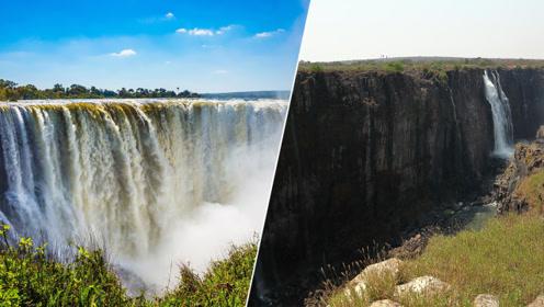 1708米宽瀑布变细流 百年最严重旱灾致非洲南部水位暴跌