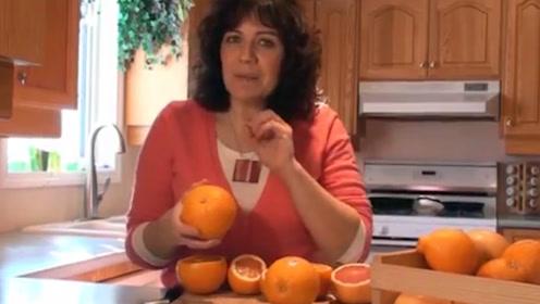 橘子原来也分公母,母橘子可比公橘子甜多了,好好开开眼