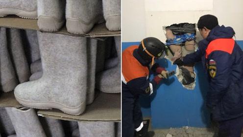 幸运!俄男子从28米高竖井坠下,被羊毛毡靴救回一命