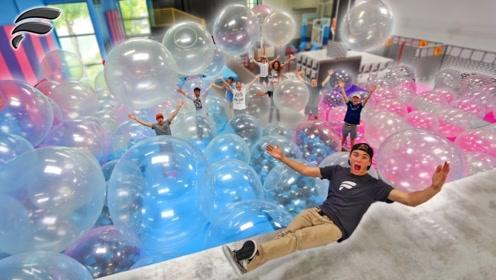 国外土豪举办泡泡球Party,场面嗨到根本停不下来