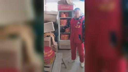 女子在自家超市冷藏柜藏23卷鞭炮 结果悲剧了