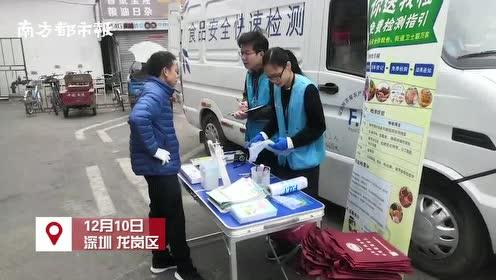 深圳龙岗一街道建设食品安全快检室,服务辖区最快20分钟出结果